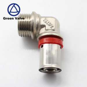 Green-GutenTop metric pex pipe brass press fitting copper crimp fittings